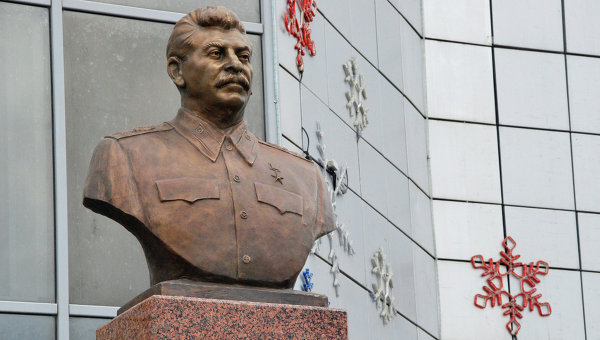 Stalin statue in Yakutsk