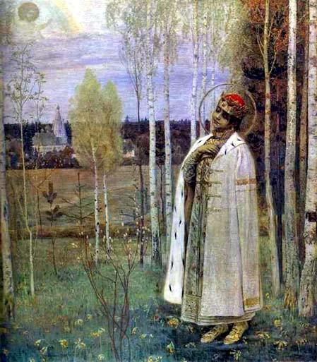 Mikhail Nesterov (1862-1942): Tsarevitsj Demetrius (1899)