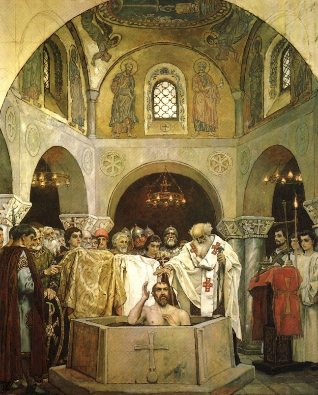 The christening of  prince Vladimir