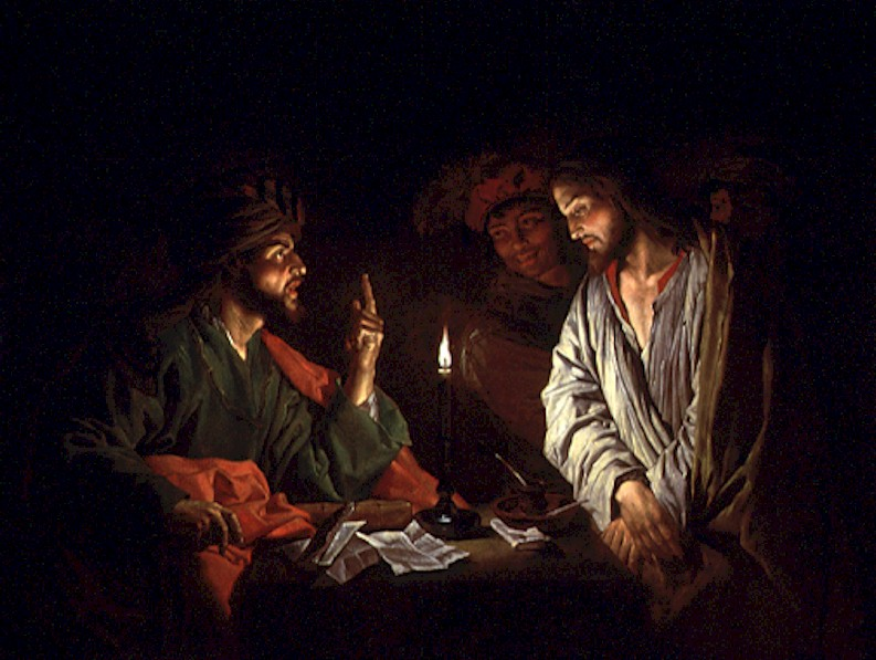 Christ before Caiaphas by Mattias Stom