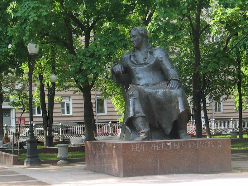 The statue of Ivan Andreevich Krylov