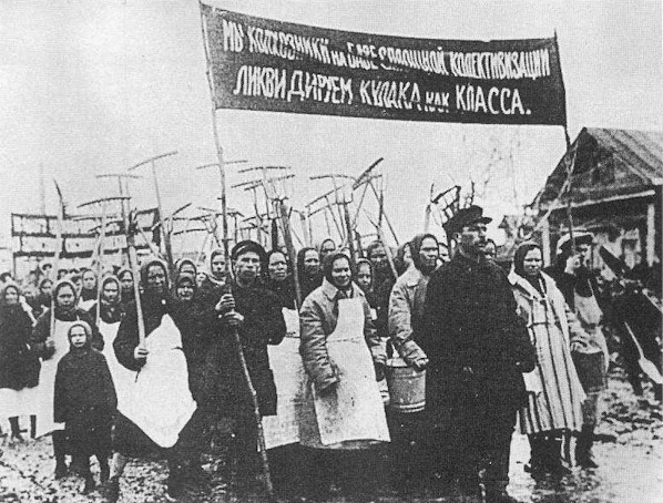 Farmers protest against the kulaks