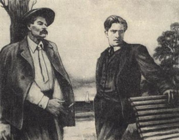 Mayakovsky and Gorky