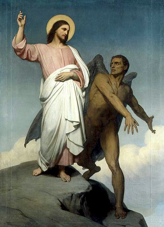 Jesus and the devil in the desert
